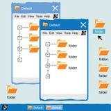 Zoom classico dell'interfaccia di Windows Fotografie Stock Libere da Diritti