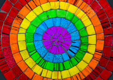 Zoom in colorful ceramic glass plate Royalty Free Stock Image