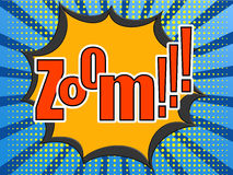 Zoom comic speech bubble Stock Photography
