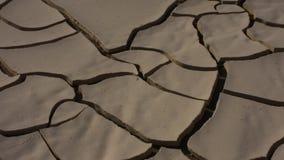 Zoom in considerazione di progettazione secca del fango nel sole nel deserto degli Emirati Arabi Uniti UAE stock footage