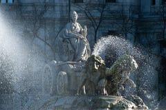 Zoom da água do wth de Cibeles imagens de stock royalty free