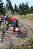 Zoom da bicicleta de montanha Imagens de Stock Royalty Free