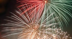 Zoom de feux d'artifice Photographie stock libre de droits