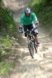 Zoom de la bici de montaña Foto de archivo libre de regalías