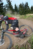 Zoom de vélo de montagne images libres de droits