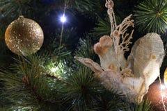 Zoom dell'albero di Natale immagini stock libere da diritti