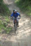 Zoom della bici di montagna Fotografie Stock Libere da Diritti