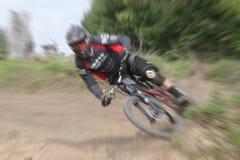 Zoom della bici di montagna Fotografia Stock