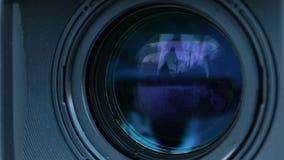 Zoom della macchina fotografica video d archivio