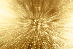Zoom della scintilla dell'oro fotografia stock libera da diritti