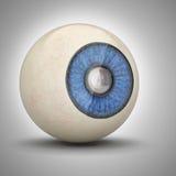 Zoom dentro del alumno del globo del ojo Imágenes de archivo libres de regalías