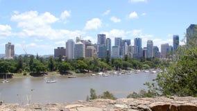Zoom di Brisbane dell'orizzonte archivi video