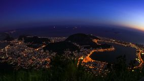 Zoom di Rio Cityscape Time Lapse Dusk archivi video