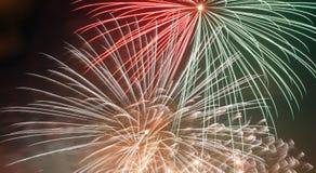 Zoom dos fogos-de-artifício Fotografia de Stock Royalty Free