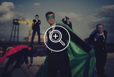 Zoom Examination Magnify Icon Symbol Concept Stock Photos