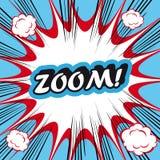 ZOOM för bakgrund för explosion för popkonst! Arkivbild