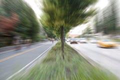 Zoom för New York City cykelbana arkivfoto
