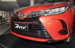 Zoom Front Left Toyota Yaris Ativ 2020 Car in Car Showroom