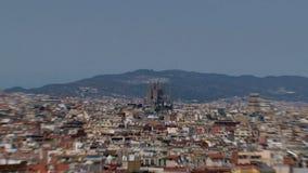 Zoom fuori dal familia di Sagrada, Barcellona, Spagna archivi video