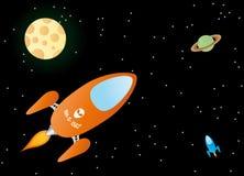 Futuristic space scene  Royalty Free Stock Image