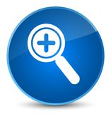Zoom in icon elegant blue round button stock illustration