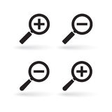 Zoom icons Royalty Free Stock Photos