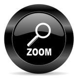 Zoom ikona Zdjęcia Royalty Free