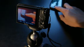 Zoom the image on the camera stock video footage