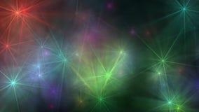 Zoom 4k för signalljus för stjärnaglödlins arkivfilmer