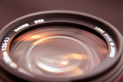 Zoom lens. Photo zoom lens in closeup Stock Photos