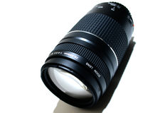 Zoom lens. A black camera zoom lens Royalty Free Stock Photo