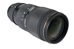 Zoom lens. Isolated on white Stock Images