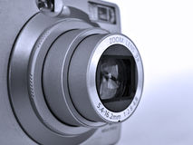 Zoom lens. On a digital P&S camera stock image