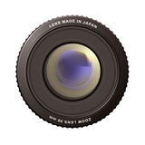 Zoom lens. Illustrated close up of a camera zoom lens with reflections Stock Photography