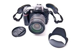 Zoom lens and camera Royalty Free Stock Images