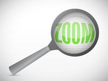 Zoom magnify concept illustration design Stock Photography