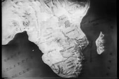 Zoom in map of Kenya stock footage