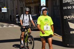 Zoom on the Marathon from Sault. France, south of france Royalty Free Stock Image