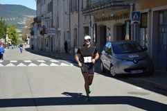 Zoom on the Marathon from Sault. France, south of france Royalty Free Stock Photo