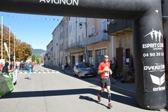 Zoom on the Marathon from Sault. France, south of france Stock Photography