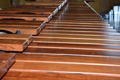 Zoom on a Xylophone. Zoom on a modern Xylophone royalty free stock image