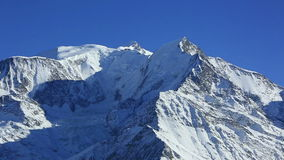 Zoom in on Mont Blanc stock footage