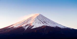 Zoom the morning mountain Fujisan of winter season Stock Photography