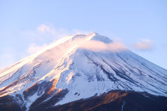 Zoom the morning mountain Fujisan of winter season Royalty Free Stock Photo