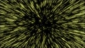 Zoom nell'iperspazio delle guerre stellari illustrazione di stock