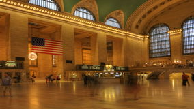 Zoom out of Busy Grand Central Station stock video