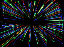 Zoom Out Color Lights Stock Photo