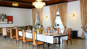 Zoom Out -  Dining Area - Independence Palace - Ho Chi Minh City. Former President Ngo Dinh Diem Residence during the Vietnam War stock video footage
