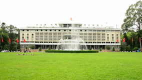 Zoom Out - Front Entrance - Independence Palace - Ho Chi Minh City Vietnam. Former President Ngo Dinh Diem Residence during the Vietnam War stock video footage