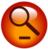 Zoom out icon. Magnifying glass on minus button - zoom out icon Stock Photography